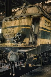 Dusty Old Train Art