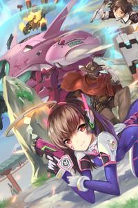 640x1136 Dva Overwatch Artwork 5k