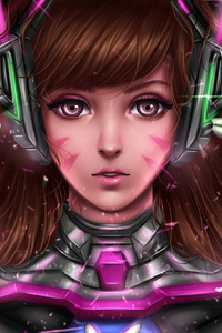 2160x3840 DVa Overwatch Digital Fanart