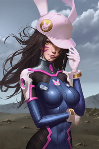 Dva Overwatch Game Art