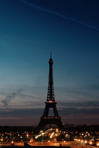 720x1280 Eiffel Tower Night Time Clear Sky