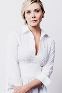 320x480 Elizabeth Olsen In White Dress