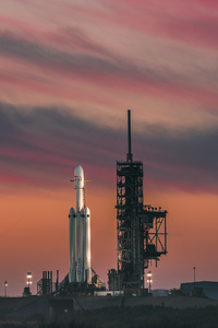 1280x2120 Falcon Heavy Space X