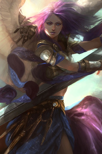480x800 Fantasy Angel Art With Sword