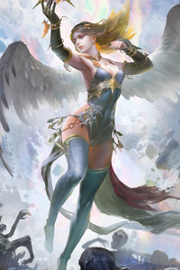 540x960 Fantasy Girl With Wings