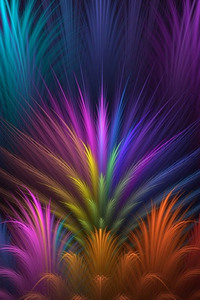 640x1136 Feathers Colorful Petals
