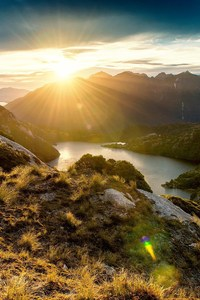 Fiordland Mountain Sunrise