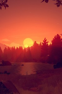 Firewatch Game Sunset