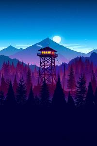 Firewatch Sunset Artwork
