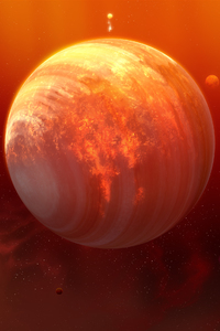 320x480 Flaming Planet
