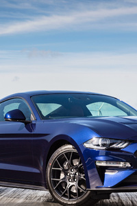 480x800 Ford Mustang EcoBoost Fastback 2018