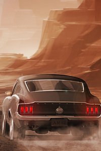 640x1136 Ford Mustang Long Road Out Of Eden