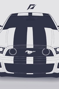 720x1280 Ford Mustang Vector