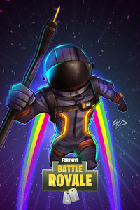 1080x2280 Fortnite Dark Voyager Fan Art