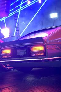 800x1280 Forza Horizon Ford Mustang Colorful Lights 4k