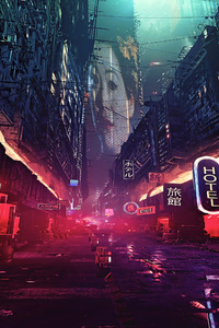 540x960 Futuristic City Science Fiction Concept Art Digital Art