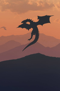 320x480 Game Of Thrones Dragon Minimalism