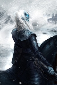 640x960 Game Of Thrones White Walker Artwork