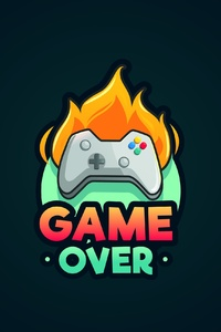 750x1334 Game Over Minimalist
