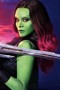 640x960 Gamora Guardians Of The Galaxy Vol 2 Cast 10k