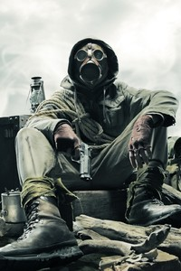 800x1280 Gas Mask Soldier Apocalypse