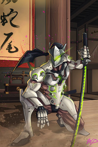 Genji Overwatch Comic Art