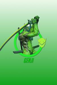 Genji Overwatch Hero 4k