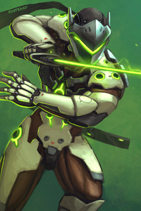 Genji Overwatch Warrior Sword