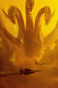 1080x2160 Ghidorah Godzilla King Of The Monsters 5k