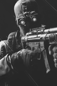 240x400 Ghost Recon Wildlands Monochrome