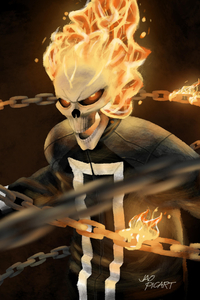 480x800 Ghost Rider Agents Of SHIELD Art