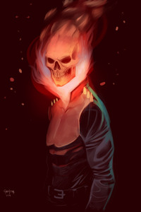 1125x2436 Ghost Rider Digital Art