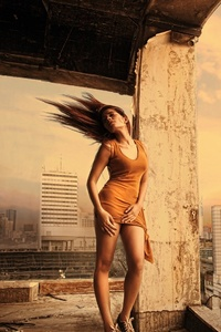 360x640 Girl Building Architecure Hairs In Air
