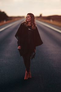 1080x2160 Girl Standing On Road 5k