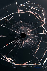 1280x2120 Glass Bullet Hole