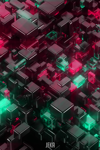 320x568 Glowing Cubes 4k