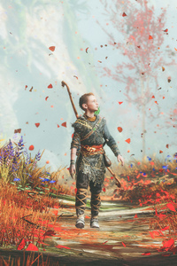 240x400 God Of War 4 Atreus