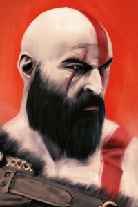 240x400 God Of War Kratos Art