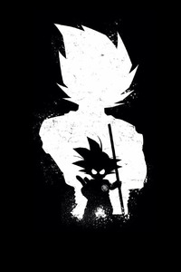 240x400 Goku Anime Dark Black 4k