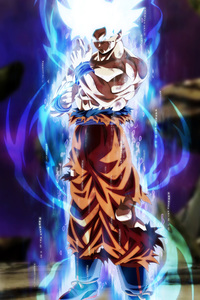 320x568 Goku Dragon Ball Super Anime 5k Fan Made