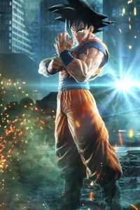 1080x2280 Goku Monkey D Luffy Naruto Jump Force 8k