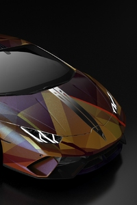 1440x2560 Gold And Wine Lamborghini Huracan