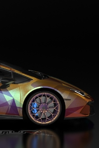 Gold And Wine Lamborghini Huracan Car