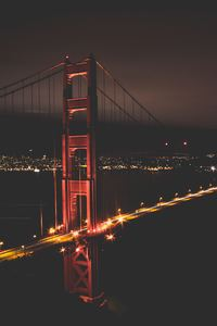 Golden Gate Bridge At Night Time