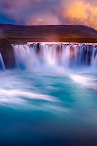 1242x2688 Gooafoss Iceland Waterfall