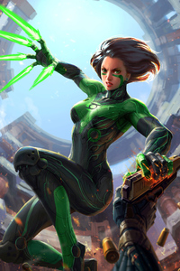 720x1280 Green Alita Battle Angel
