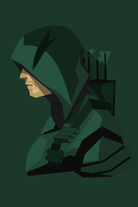 320x480 Green Arrow Minimalism 4k