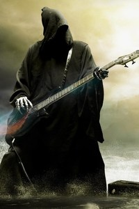 360x640 Grim Reaper Playing Guitar