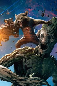 640x1136 Groot And Rocket Raccoon Guardians Of The Galaxy