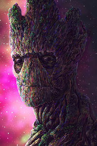 1080x2280 Groot Digital Art 4k